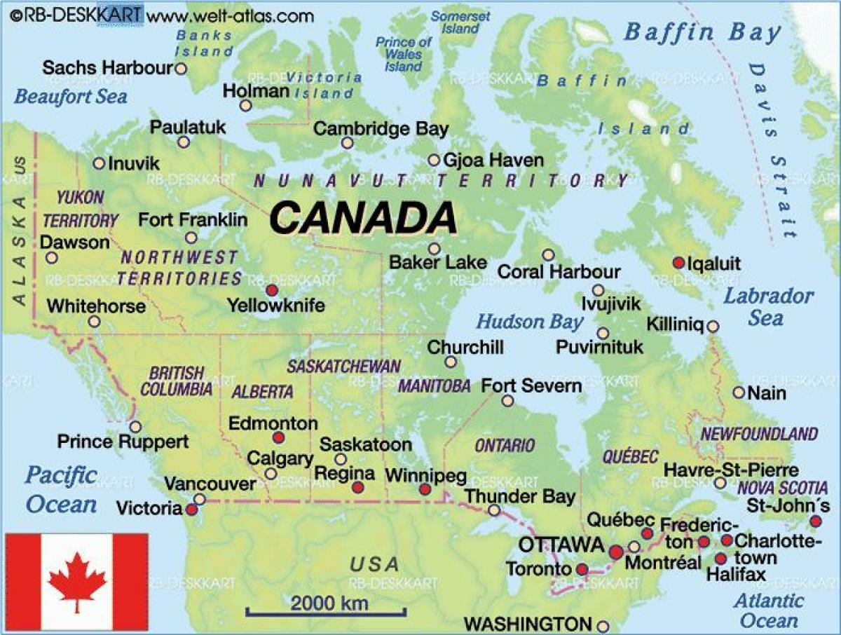 Ajo Kartta Kanada Kartta Kanadan Ajo Pohjois Amerikka Amerikka