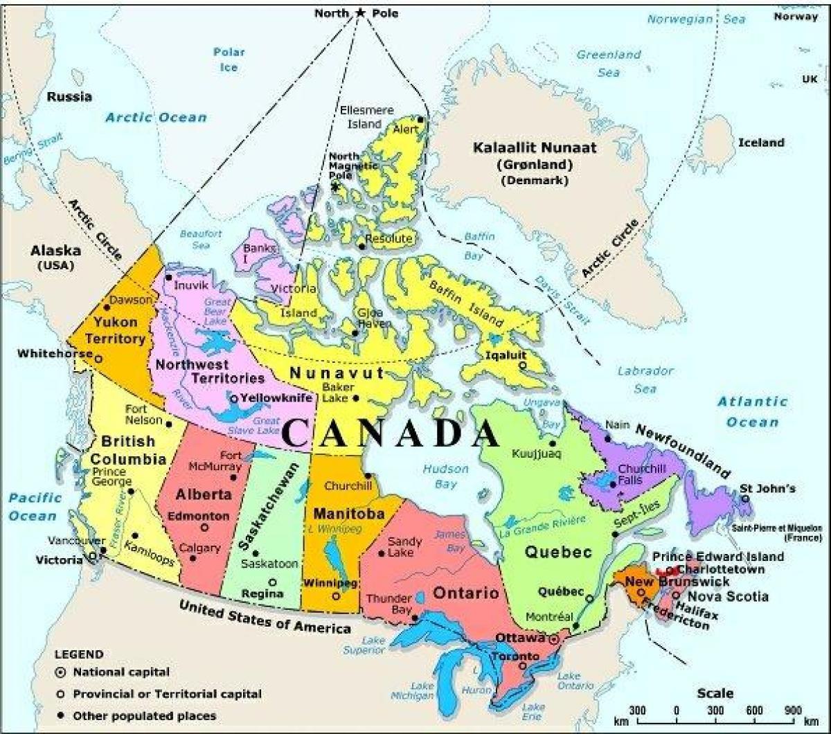 Lansi Kanadan Kartta Jossa Kaupungit Kartta Lansi Kanadan